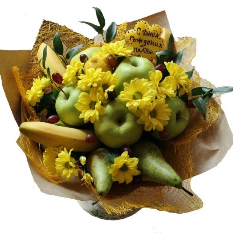 Букеты из цветов и фруктов своими руками для начинающих 730